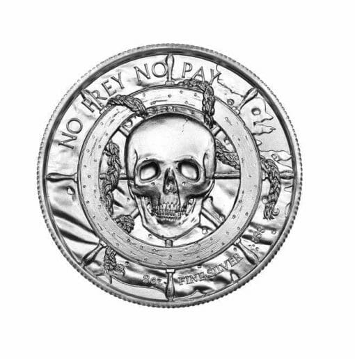 Privateer Series - The Siren 2oz .999 Ultra High Relief Silver Bullion Coin - Elemetal Mint 2