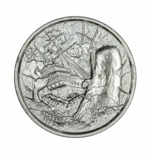 Privateer Series - The White Whale 2oz .999 Ultra High Relief Silver Bullion Coin - Elemetal Mint 1
