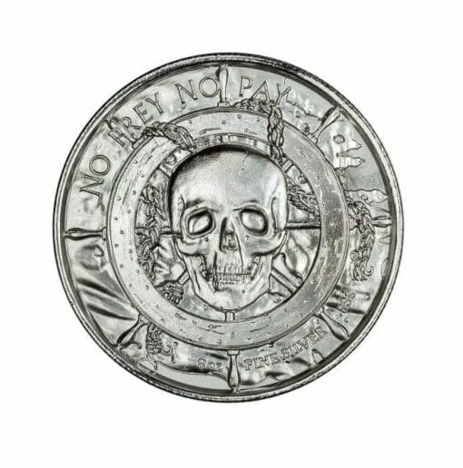 Privateer Series - The White Whale 2oz .999 Ultra High Relief Silver Bullion Coin - Elemetal Mint 2