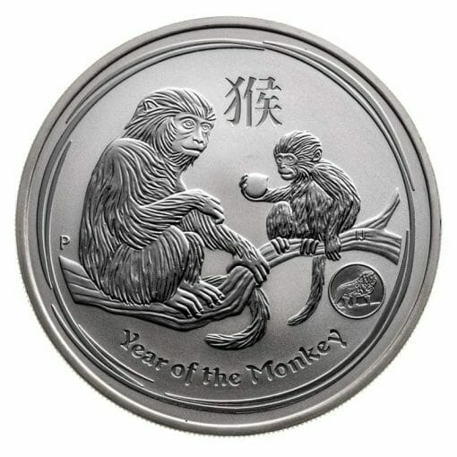 2016 Year Of The Monkey with Lion Privy 1oz .999 Silver Bullion Coin - Lunar Series II - The Perth Mint 1