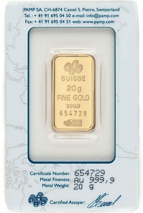 Lady Fortuna 20g .9999 Gold Minted Bullion Bar - PAMP Suisse 3