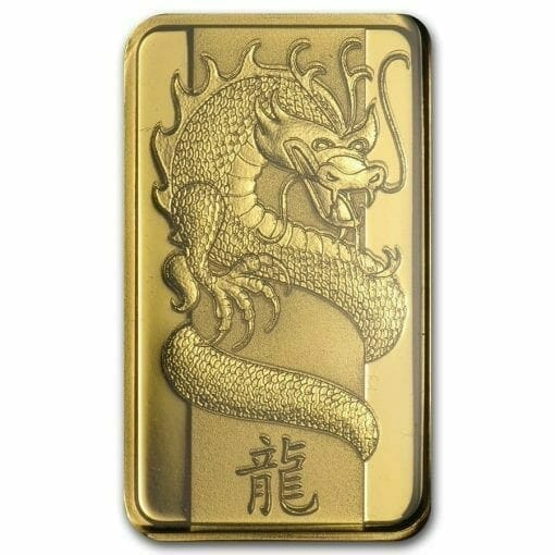 2012 Lunar Year of the Dragon 5g .9999 Gold Minted Bullion Bar - PAMP Suisse 1