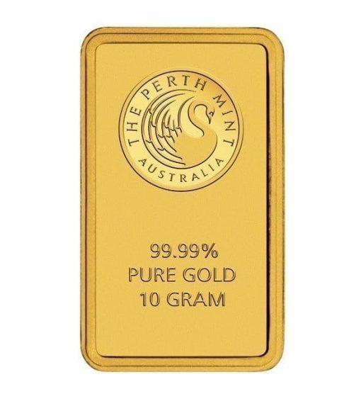 Perth Mint Kangaroo 10g .9999 Gold Minted Bullion Bar - Green Security Card 1