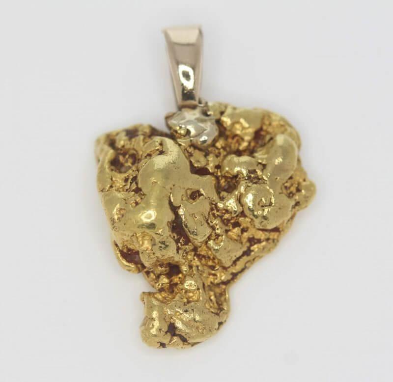 Natural Australian Gold Nugget Pendant - 9.07g 2