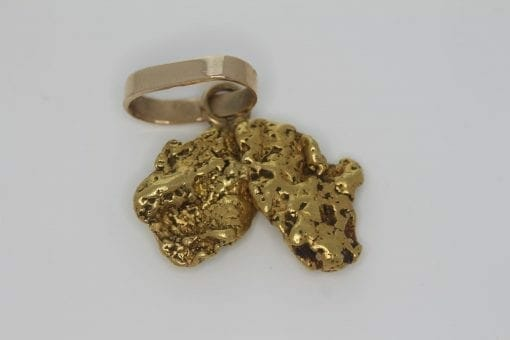 Map of Australia - Natural Australian Gold Nugget Pendant - 11.83g 6