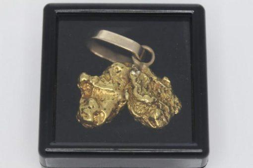 Map of Australia - Natural Australian Gold Nugget Pendant - 11.83g 10