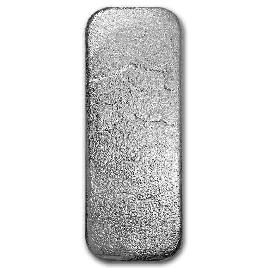 Johnson Matthey 100oz .999 Silver Cast Bar - SLC / Salt Lake City Refinery 2