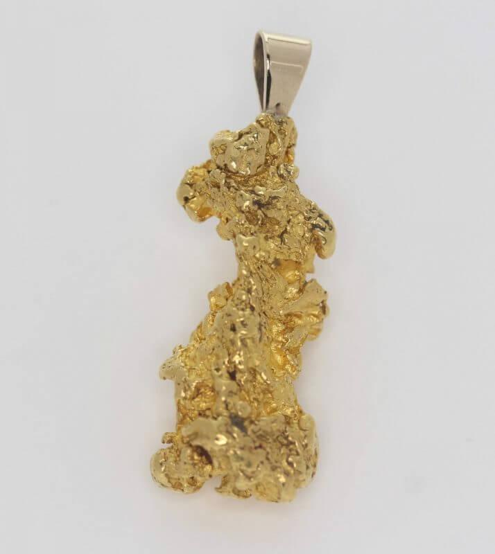 Natural Australian Gold Nugget Pendant - 24.37g 11