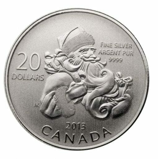 2013 $20 Santa 1/4oz .9999 Silver Coin - Royal Canadian Mint 1