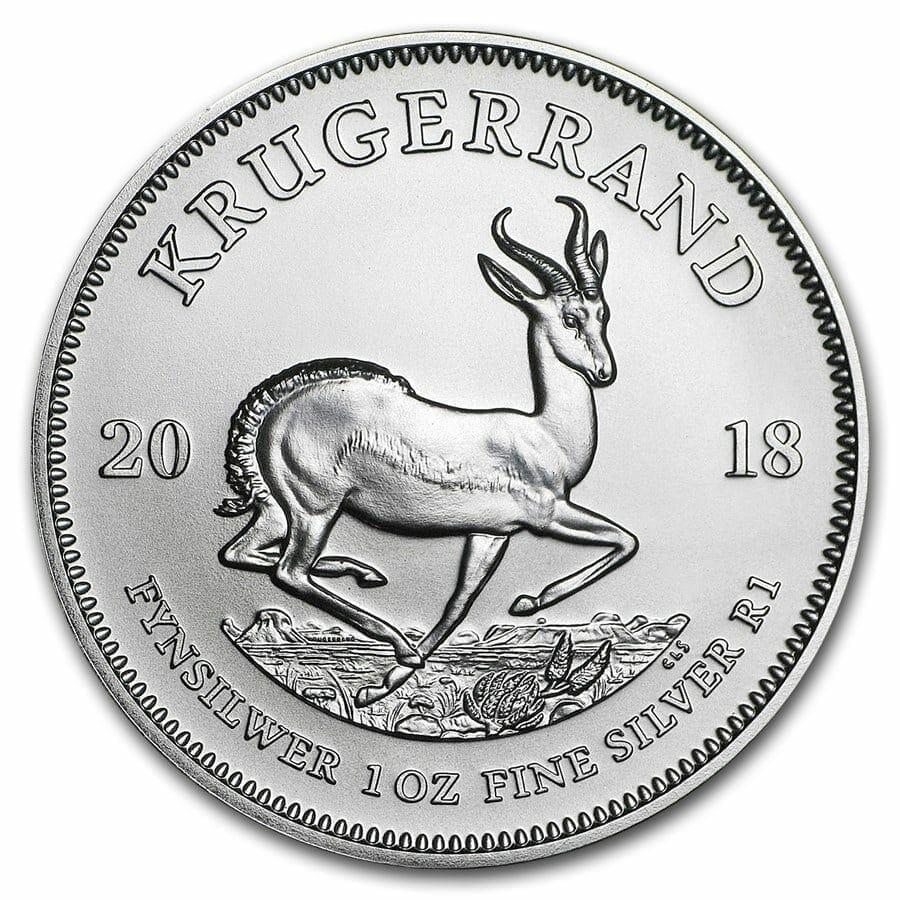 2018 Silver Krugerrand 1oz .999 Silver Bullion Coin - South African Mint 1