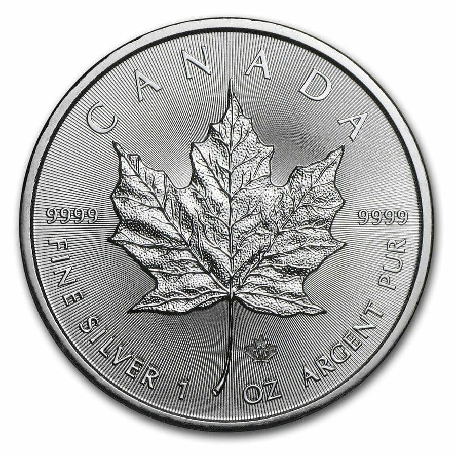 2014 Maple Leaf 1oz .9999 Silver Bullion Coin – Royal Canadian Mint 1