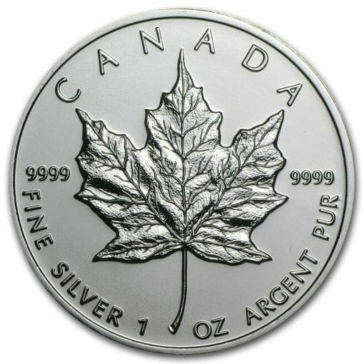 2009 Maple Leaf 1oz .9999 Silver Bullion Coin – Royal Canadian Mint 1