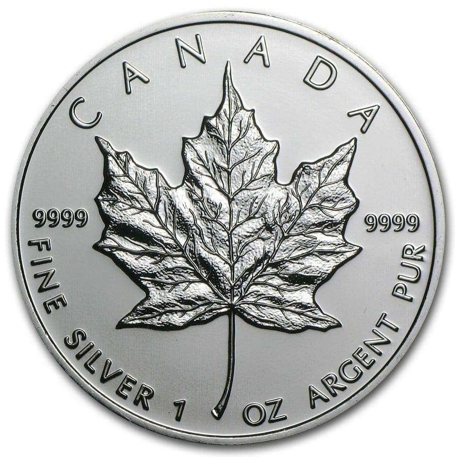 2009 Maple Leaf 1oz .9999 Silver Bullion Coin – Royal Canadian Mint 1