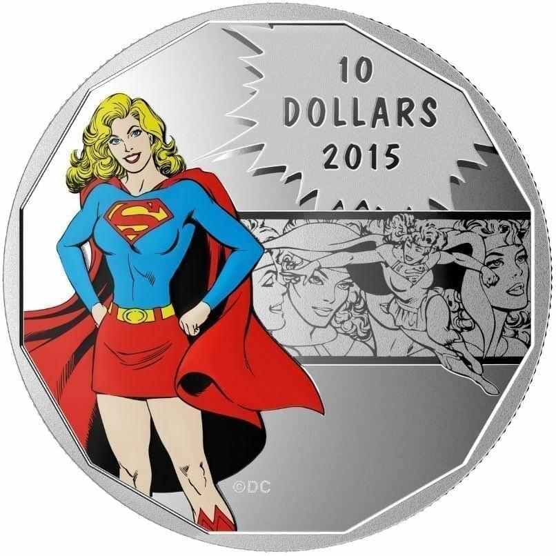 2015 $10 DC Comics Originals - Strength (Supergirl) 1/2oz .9999 Silver Coin - Royal Canadian Mint 1