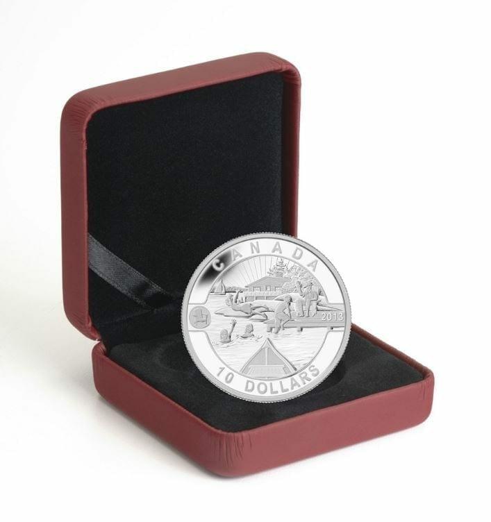 2013 $10 O Canada: Canadian Summer Fun 1/2oz .9999 Silver Coin - Royal Canadian Mint 5