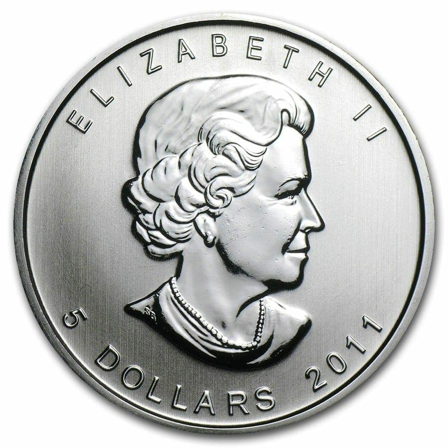 2011 Maple Leaf 1oz .9999 Silver Bullion Coin – Royal Canadian Mint 2