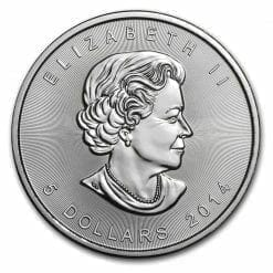 2014 Maple Leaf 1oz .9999 Silver Bullion Coin – Royal Canadian Mint 5