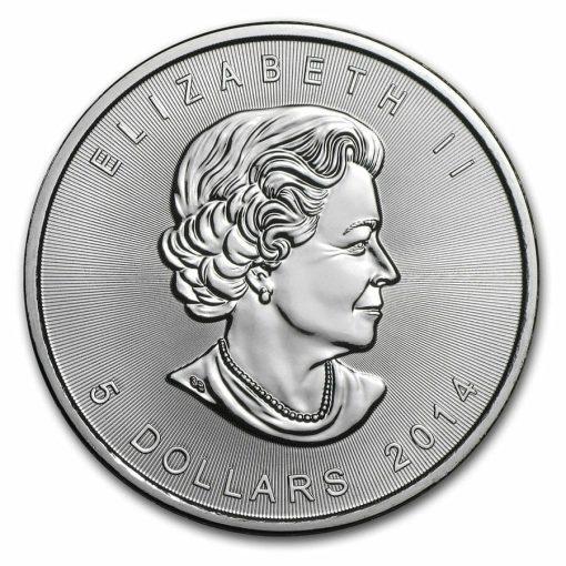 2014 Maple Leaf 1oz .9999 Silver Bullion Coin – Royal Canadian Mint 3