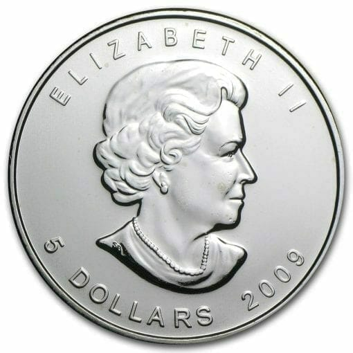 2009 Maple Leaf 1oz .9999 Silver Bullion Coin – Royal Canadian Mint 2