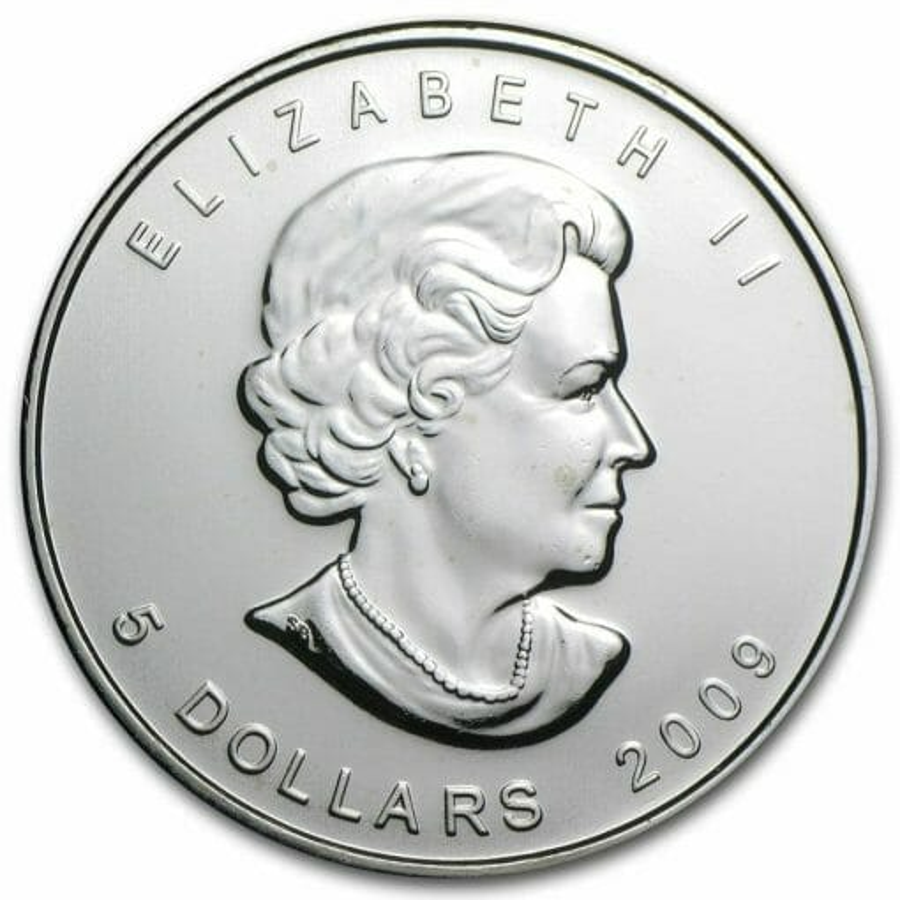 2009 Maple Leaf 1oz .9999 Silver Bullion Coin – Royal Canadian Mint 2