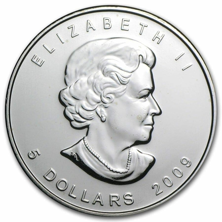 2009 Maple Leaf 1oz .9999 Silver Bullion Coin – Royal Canadian Mint 3