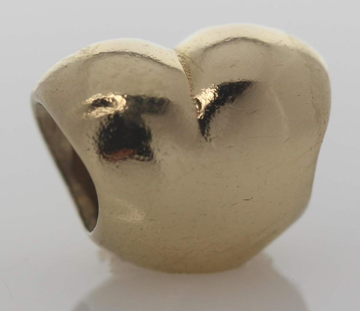 Pandora 14ct Gold Heart Charm - 750119 - ALE 585 3