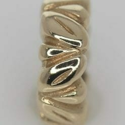 Pandora 14ct Gold Leaf Spacer Charm - 750241 - Retired ALE 585 8