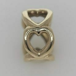 Pandora 14ct Open Heart Gold Spacer Charm - 750454 - ALE 585 7