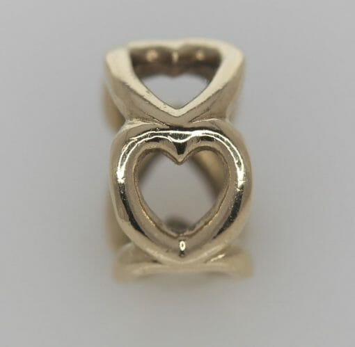 Pandora 14ct Open Heart Gold Spacer Charm - 750454 - ALE 585 3