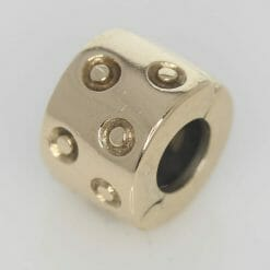 Pandora 14ct Gold Spotted Fixed Clip Charm - 750345 - ALE 585 6