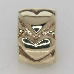 Pandora 14ct Gold Heart Fixed Clip Charm - 750243 - ALE 585 5