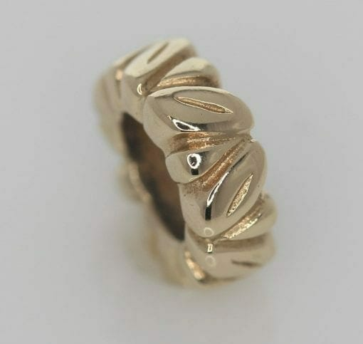 Pandora 14ct Gold Leaf Spacer Charm - 750241 - Retired ALE 585 4