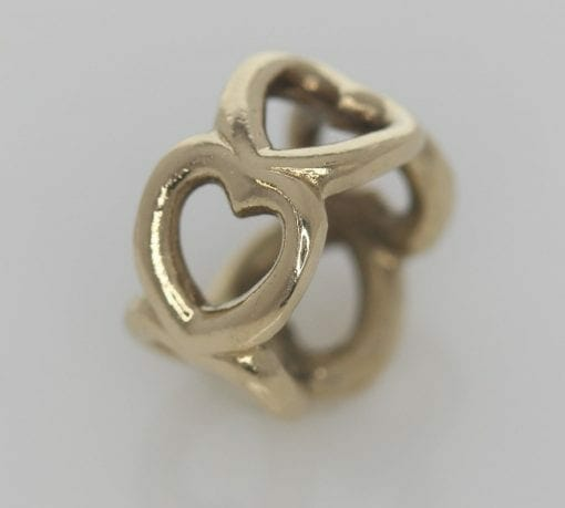 Pandora 14ct Open Heart Gold Spacer Charm - 750454 - ALE 585 4