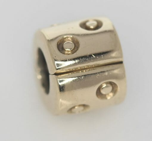 Pandora 14ct Gold Spotted Fixed Clip Charm - 750345 - ALE 585 2
