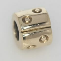 Pandora 14ct Gold Spotted Fixed Clip Charm - 750345 - ALE 585 5