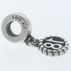 """Pandora Sterling Silver """"18"""" Eighteen Hanging Charm - 790495 - Retired ALE 925 5"""
