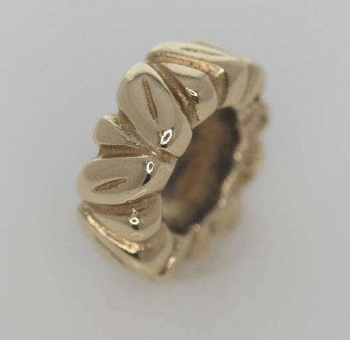 Pandora 14ct Gold Leaf Spacer Charm - 750241 - Retired ALE 585 5