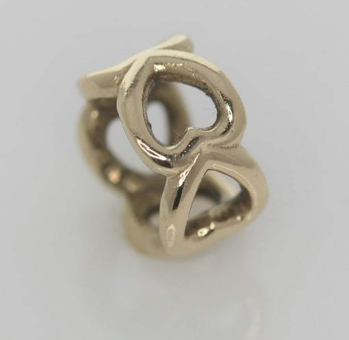 Pandora 14ct Open Heart Gold Spacer Charm - 750454 - ALE 585 5