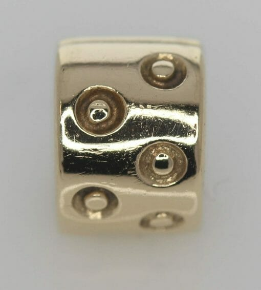 Pandora 14ct Gold Spotted Fixed Clip Charm - 750345 - ALE 585 4