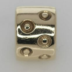 Pandora 14ct Gold Spotted Fixed Clip Charm - 750345 - ALE 585 7