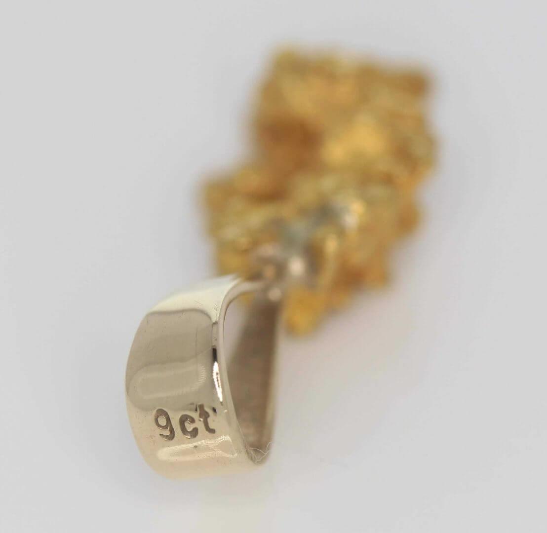 Natural Australian Gold Nugget Pendant - 4.50g 5