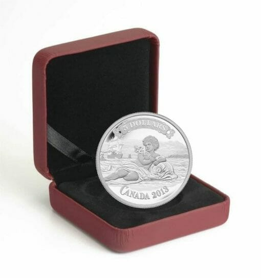 2013 $5 Canadian Bank of Commerce Bank Note Design 3/4oz .9999 Silver Coin - Royal Canadian Mint 3