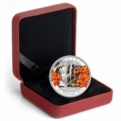 2014 $20 Autumn Falls 1oz .9999 Silver Coin - Royal Canadian Mint 3