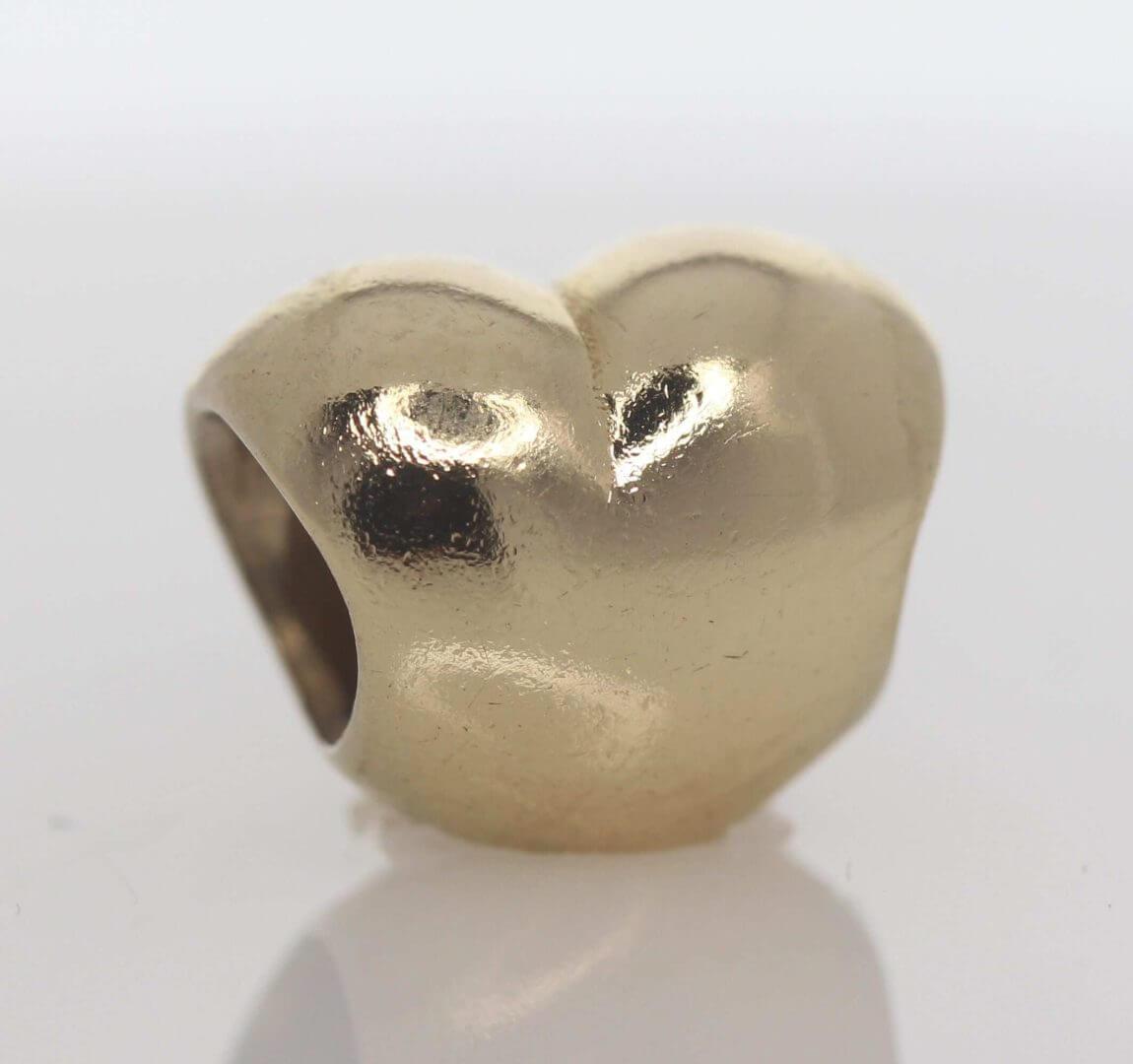 Pandora 14ct Gold Heart Charm - 750119 - ALE 585 1