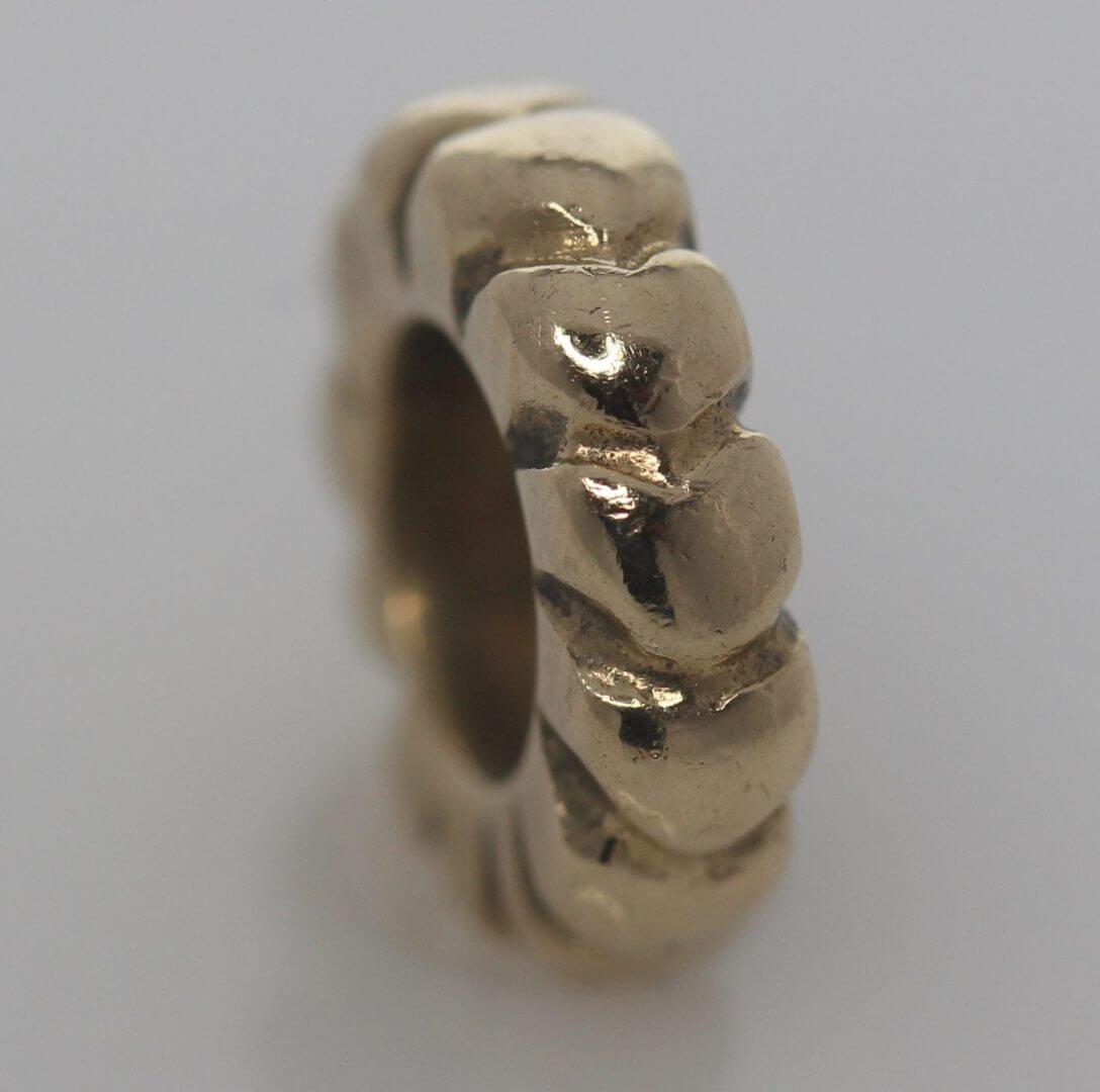Pandora 14ct Gold Mini Heart Spacer Charm - 750203 - Retired ALE 585 1