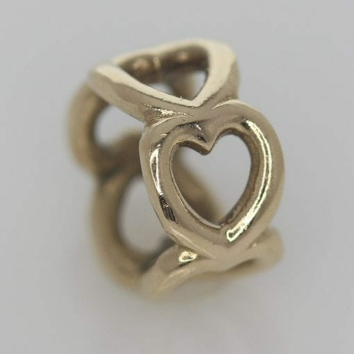 Pandora 14ct Open Heart Gold Spacer Charm - 750454 - ALE 585 1