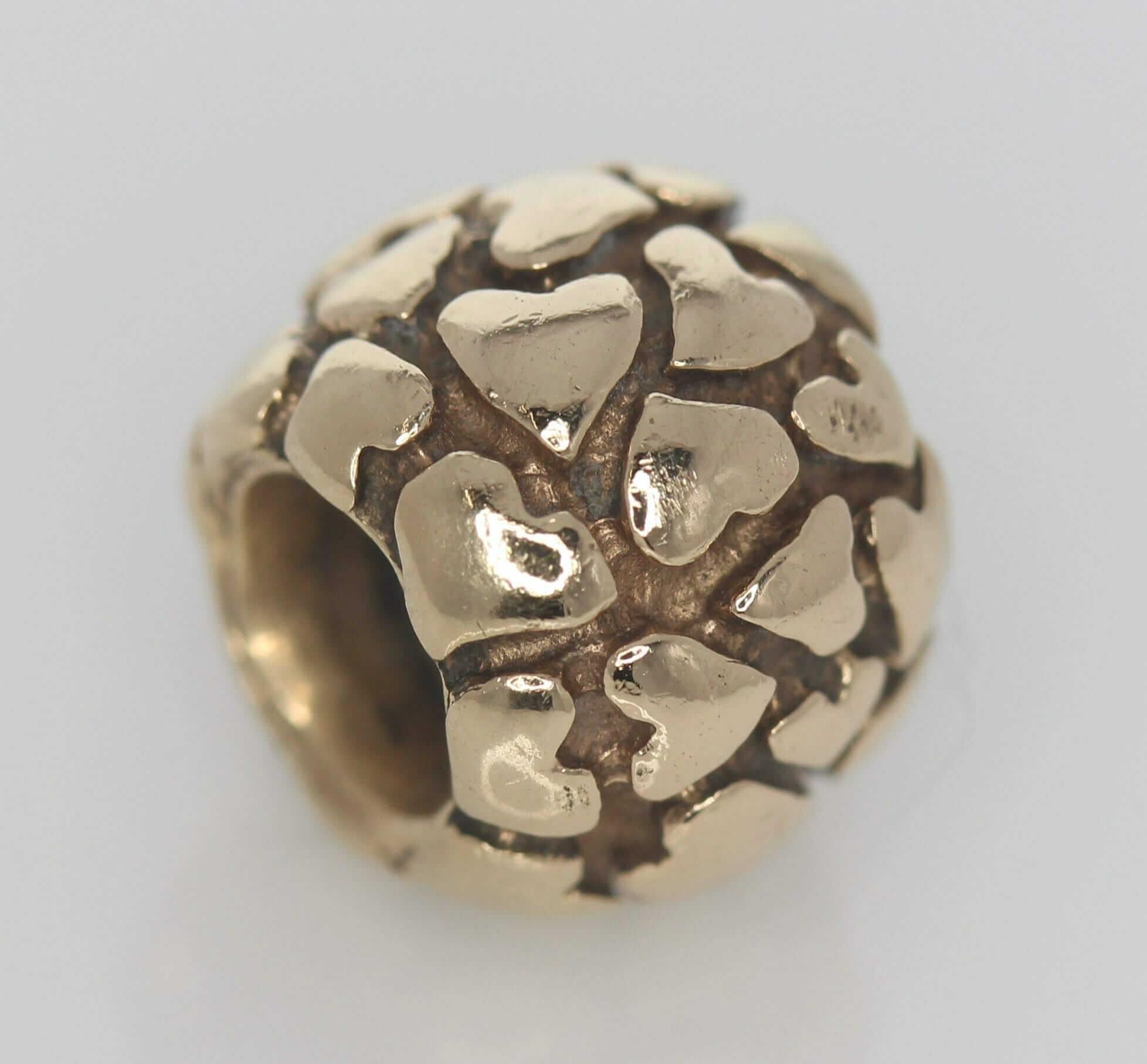 Pandora 14ct Gold Lotsa Love Hearts Charm - 750236 - Retired ALE 585 1