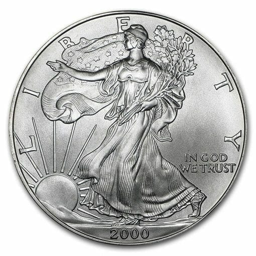 2000 American Eagle 1oz .999 Silver Bullion Coin ASE 1