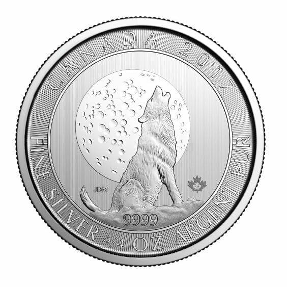 2017 Howling Wolf Moon 3/4oz .9999 Silver Bullion Coin - Royal Canadian Mint 1