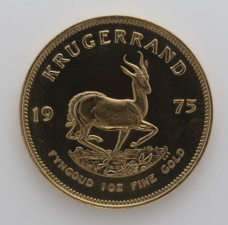 1975 Krugerrand 1oz Fine Gold Coin - South African Mint 1